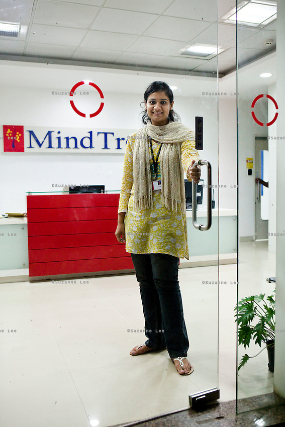 KPN company, Getronics, has off shored multiple business units to the Indian company, Mind Tree in Bangalore, the 'Silicon Valley of India', in the state of Karnataka, India. Photo by Suzanne Lee for Hollandse Hoogte.
