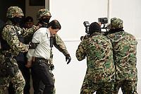 "Mexico captures Sinaloa cartel drug lord "" El Chapo"" Guzman in Mexico City February 22, 2014. Photo by Miguel Angel Pantaleon/ VIEWpress."