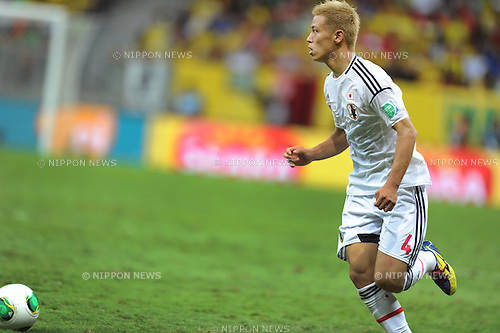 Keisuke Honda (JPN),<br /> JUNE 15, 2013 - Football / Soccer :<br /> FIFA Confederations Cup Brazil 2013 Group A match between Brazil 3-0 Japan at Estadio Nacional in Brasilia, Brazil. (Photo by Takahisa Hirano/AFLO)