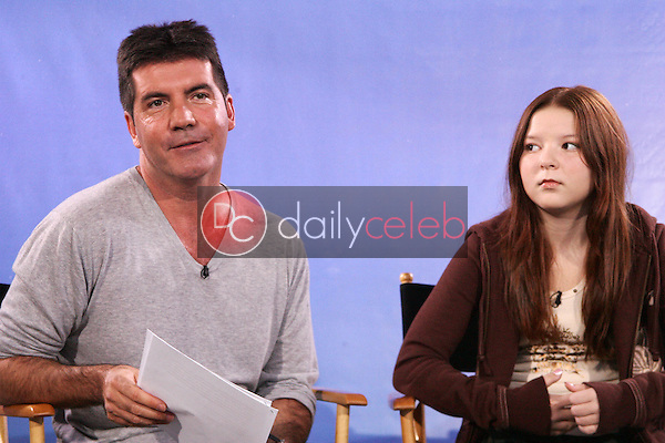 Simon Cowell and Bianca Ryan<br />
