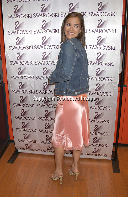 ..AT THE SWAROVSKI STORE FOR THE AMERICAN HEART ASSOCIATION PROJECTS SWAROVSKI CELEBRITY HEARTHROBS CRYSTALLIZE DENIM AUCTION  ON APRIL 24,2003 ..PHOTO BY ROBIN PLATZER,TWIN IMAGES..REBECCA BUDIG OF ALL MY CHILDREN