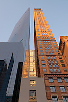 Carnegie Hall Tower Arcihitect,  Cesar Pelli and Metropolitan Tower Architect: Schuman, Lichtenstein, Claman & Efron and Russian tea room, West 57th Street NYC, New York, postmodern