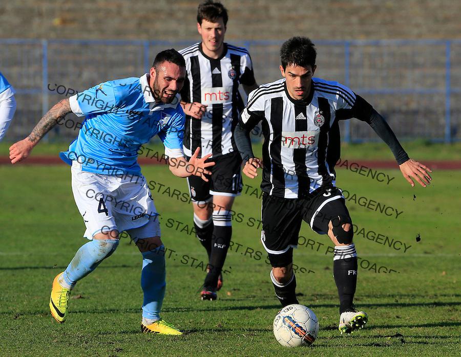 Fudbal Jelen Super League season 2015-2016<br /> Spartak v Partizan<br /> branimir Jocic (L) and Nikola Lekovic<br /> Subotica, 29.11.2015.<br /> foto: Srdjan Stevanovic/Starsportphoto&copy;