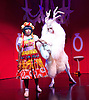 Beauty &amp; The Beast <br /> at Theatre Royal Stratford East <br /> London, Great Britain <br /> press photocall <br /> 9th December 2014 <br /> <br /> Helen Aluko as Beauty <br /> <br /> Vlach Ashton as Beast <br /> <br /> <br /> <br /> Photograph by Elliott Franks <br /> Image licensed to Elliott Franks Photography Services