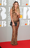Charlotte Crosby at The BRIT Awards 2017 at The O2, Peninsula Square, London on February 22nd 2017<br /> CAP/ROS<br /> &copy; Steve Ross/Capital Pictures /MediaPunch ***NORTH AND SOUTH AMERICAS ONLY***