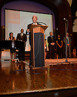 NEW YORK, NY - APRIL 3: Harry Belafonte, John McEnroe, Randy Levine, Charles B. Rangel pictured as David N. Dinkins, 106th Mayor of the City of New York, receives the Dr. Phyllis Harrison-Ross Public Service Award for a lifetime of public service at the New York Society of Ethical Culture in New York City on April 3, 2014. Credit: Margot Jordan/MediaPunch