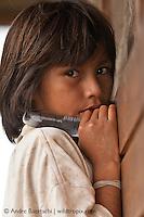 Machiguenga girl, Yomibato native communitiy, lowland tropical rainforest, Manu National Park, Madre de Dios, Peru.