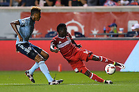Bridgeview, IL - Wednesday, July 13, 2016: The Chicago fire played the Sporting Kansas City at Toyota Park in Bridgeview, IL.  The Chicago Fire defeated Sporting Kansas City by the score of 1-0.