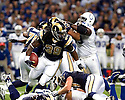 October 25, 2009 - St Louis, Missouri, USA - Rams running back Steven Jackson (39) carries the ball in the game between the St Louis Rams and the Indianapolis Colts at the Edward Jones Dome.  The Colts defeated the Rams 42 to 6.
