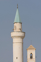 Tripoli, Libya - Minaret and Church Bell Tower