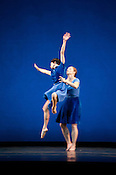 "Rita Donahue and Maile Okamura of Mark Morris Dance Group perform ""Rock of Ages"" Friday, July 27th 2012 at DPAC in Durham."