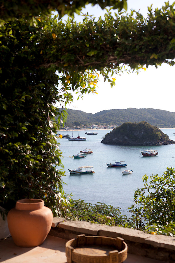 View of Buzios Bay from a suite at Casa Brancas Boutique Hotel and Spa.