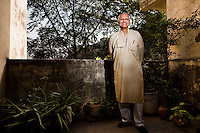 "Sanjit ""Bunker"" Roy (b. 1945) is an Indian social activist and the founder of the Barefoot College (est. 1971) in Tilonia, Ajmer, Rajasthan, India. .The college takes men, women and children who are illiterate and semi-literate from the lowest castes, and from the most remote and inaccessible villages in India and other countries in Africa and South Asia, and trains them to become ""barefoot"" water and solar engineers, architects, pathologists, midwives, accountants, and etc.. These villagers then work within their own communities, thus making them less dependent on ""outside"" skills. Photo by Suzanne Lee for Panos London"