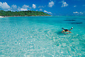 Snorkeling in the lagoon at Bikini Atoll, Marshall Islands, Micronesia.