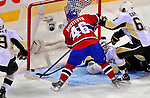 3 February 2009: Montreal Canadiens' left wing forward Andrei Kostitsyn from Belarusse scores against the Pittsburgh Penguins in the third period at the Bell Centre in Montreal, Quebec, Canada. The Canadiens defeated the Penguins 4-2. ***** Editorial Sales Only ***** Mandatory Photo Credit: Ed Wolfstein Photo
