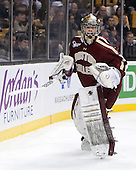 Parker Milner (BC - 35) - The Boston College Eagles defeated the Harvard University Crimson 4-1 in the opening round of the 2013 Beanpot tournament on Monday, February 4, 2013, at TD Garden in Boston, Massachusetts.