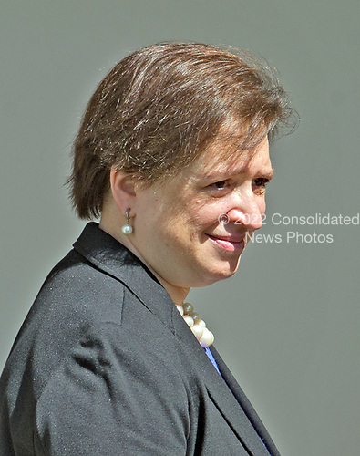 Associate Justice of the United States Supreme Court Elena Kagan walks on the Colonnade following the ceremony where Associate Justice Neil Gorsuch took the Oath of Office from Associate Justice Anthony Kennedy in the Rose Garden of the White House in Washington, DC on Monday, April 10, 2017.<br /> Credit: Ron Sachs / CNP<br /> (RESTRICTION: NO New York or New Jersey Newspapers or newspapers within a 75 mile radius of New York City)