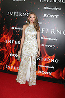 LOS ANGELES, CA - OCTOBER 25: Tanya Mityushina at  the screening of Sony Pictures Releasing's 'Inferno' held at the DGA Theater on October 25, 2016 in Los Angeles, California. Credit: David Edwards/MediaPunch