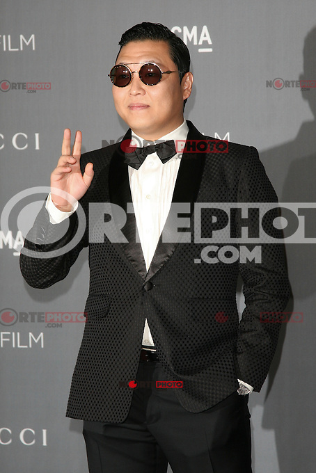 LOS ANGELES, CA - OCTOBER 27: PSY at the LACMA 2012 Art + Film Gala Honoring Ed Ruscha and Stanley Kubrick presented by Gucci at LACMA on October 27, 2012 in Los Angeles, California. Credit: mpi27/MediaPunch Inc. /NortePhoto .<br />
