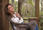 Author and singer songwriter Rita Coolidge on the porch of her two room cabin near Waukeenah, Florida outside Tallahassee.