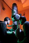 TEM Transmission Electron Microscope. Dr.Jeff Farrer, Jason Neff (Physics student).March 1, 2005..Photography by Mark A. Philbrick