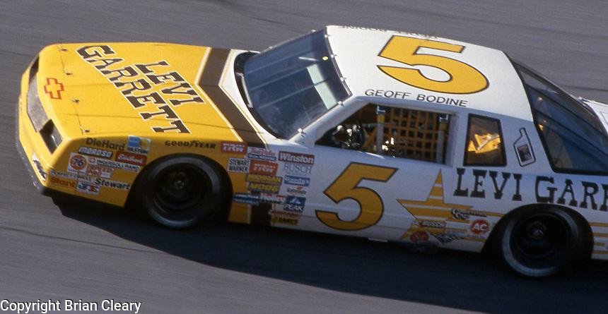 Geoff Bodine (5) Chevrolet 10th place  Motorcraft 500 at Atlanta International Raceway in Hampton, GA on March 16, 1986.   (Photo by Brian Cleary/www.bcpix.com)