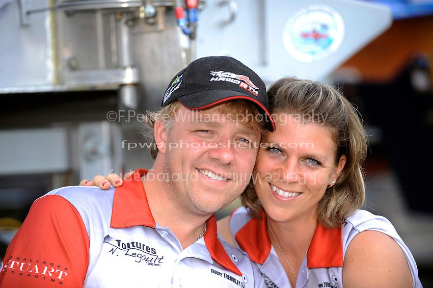 "Driver Patrick Haworth, GP-57 ""H2Racing"" and girlfriend Judith Sauvé."
