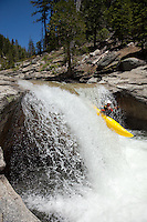 """Kayaker on Silver Creek 13"" - This kayaker was photographed on Silver Creek - South Fork, near Icehouse Reservoir, CA."