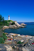 Point Atkinson Lighthouse (built 1912) in Lighthouse Park, West Vancouver, BC, British Columbia, Canada
