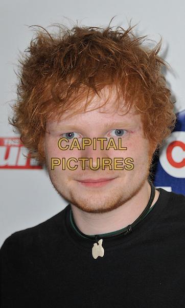 Ed Sheeran.The Capital Radio FM Summertime Ball, Wembley National Stadium, Wembley, London, England..9th June 2012..arrivals headshot portrait black necklace .CAP/WIZ.© Wizard/Capital Pictures.