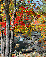 Coos Canyon on the Swift River in Oxford County, Maine