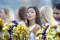 SEP 12, 2015:  University of Washington cheerleader Julia Tran vs Sacramento State at Husky Stadium in Seattle, Washington. Washington won over Sacramento State.