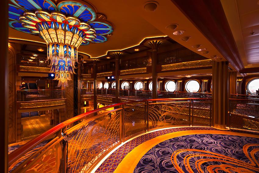 The Art Deco Lobby Atrium On The New Disney Dream Cruise