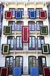 Facade on Plaza Zocodover Square; Corpus Christi Festival; Toledo; Spain