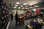 Mississippi football coach Houston Nutt speaks at a news conference Monday Nov. 7, 2011 at the University of Mississippi in Oxford, Miss. Nutt will resign at the end of the season. (AP Photo/Oxford Eagle, Bruce Newman) MAGS OUT NO SALES MANDATORY CREDIT