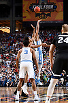 GLENDALE, AZ - APRIL 03:  Isaiah Hicks #4 of the North Carolina Tar Heels tips offwith Johnathan Williams #3 of the Gonzaga Bulldogs during the 2017 NCAA Men's Final Four National Championship game at University of Phoenix Stadium on April 3, 2017 in Glendale, Arizona.  (Photo by Brett Wilhelm/NCAA Photos via Getty Images)