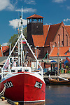 Fishing boats and Sea Museum in Hel harbour Baltic sea Poland photo by Piotr Gesicki