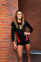 10 August 2010:  #2 Geena Urango DS/OH Senior year  on the Pac-10 NCAA College Women's Volleyball team for the USC Trojans Women of Troy photographed at the Galen Center on Campus in Southern California. .Images are for Personal use only.  No Model Release, No Property Release, No Commercial 3rd Party use. .Photo Credit should read: &copy;2010ShellyCastellano.com