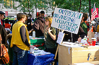 Outreach Voluteers Needed at the Occupy Wall Street Protest in New York City October 6, 2011.