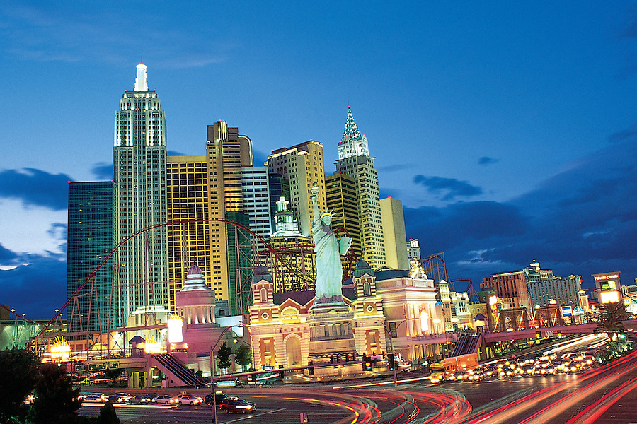 "Nevada. New York-New York Resort on ""The Strip,"" Las Vegas Boulevard and Tropicana Avenue in Las Vegas"