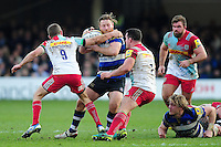 Ross Batty of Bath Rugby takes on the Harlequins defence. Ross Batty of Bath Rugby takes on the Harlequins defence. Aviva Premiership match, between Bath Rugby and Harlequins on February 18, 2017 at the Recreation Ground in Bath, England. Photo by: Patrick Khachfe / Onside Images