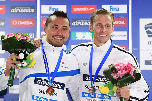 (L-R) Shinri Shioura (JPN), Roland Schoeman (RSA), <br /> OCTOBER 26, 2016 - Swimming : FINA Swimming World Cup Tokyo <br /> Men's 50m Freestyle Award Ceremony <br /> at Tatsumi International Swimming Pool, Tokyo, Japan. <br /> (Photo by AFLO SPORT)