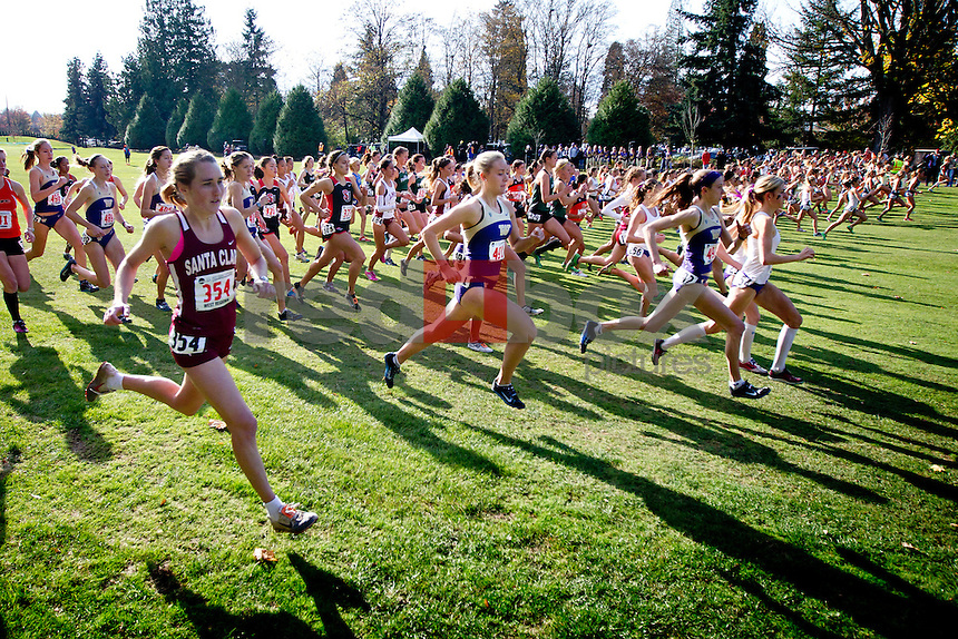 The University of Washington hosted the men's and women's cross country NCAA West Regional Championships at Jefferson Park Golf Course in Seattle on Friday November 9, 2012. (Photo by Scott Eklund /Red Box Pictures)