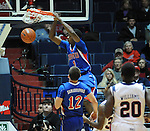 SMU's Ryan Manuel (1) dunks against Mississippi at the C.M. &quot;Tad&quot; Smith Coliseum in Oxford, Miss. on Tuesday, January 3, 2012. (AP Photo/Oxford Eagle, Bruce Newman)