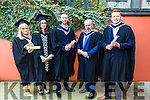Bachelor of Arts, Interactive Multimedia, Jennifer Plunkett, Ellen O'Leary, Ryan Burke, Noel Nash, Eamonn Brosnan at the Institute of Technology Tralee Autumn Conferring of Awards Ceremony at the Brandon Hotel on Friday