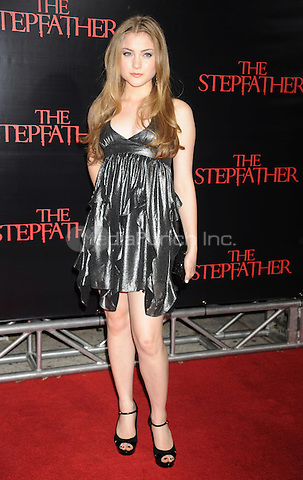 Skyler Samuels attends the premiere of 'The Stepfather' at the SVA Theater in New York City. October 12, 2009.. Credit: Dennis Van Tine/MediaPunch