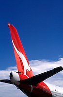 Qantas tailplane.<br /> <br /> Larger JPEG + TIFF images available by contacting use through our contact page at :..www.photography4business.com