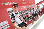 Tom Dumoulin (NED) Sunweb signs on before the start of Stage 1 Emirates Motor Company Stage of the 2017 Abu Dhabi Tour, running 189km from Madinat Zayed through the desert and back to Madinat Zayed, Abu Dhabi. 23rd February 2017<br /> Picture: ANSA/Matteo Bazzi | Newsfile<br /> <br /> <br /> All photos usage must carry mandatory copyright credit (&copy; Newsfile | ANSA)