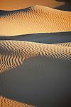 Sahara desert sand dunes at Erg Lihoudi, M'hamid, Morocco.
