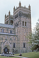 Durham: Durham Cathedral--The West Towers and North Door. Photo '90.